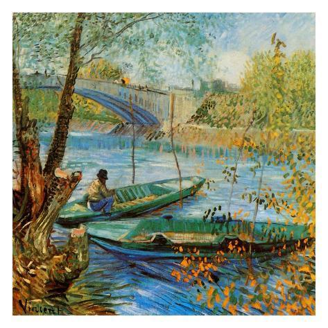 La Pêche Au Printemps, Pont De Clichy Art Print