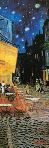 La terraza del Café de la Place du Forum, Arlés, de noche, c.1888, detalle Reproducción de lámina sobre lienzo