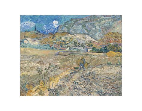 Landscape at Saint-Re?my (Enclosed Field with Peasant), 1889 Giclee Print