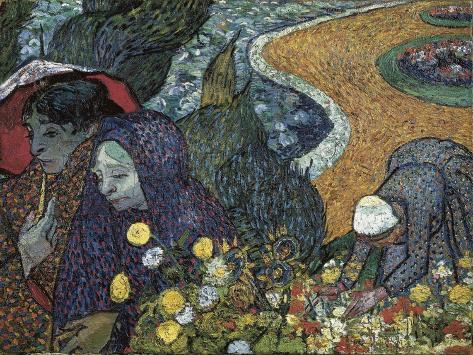 Memory of the Garden at Etten (Ladies of Arles) Art Print