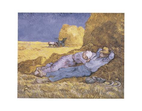 Midday Rest (after Millet), c.1890 Art Print