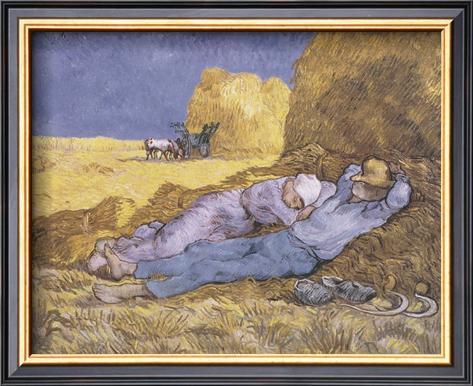 Midday Rest (after Millet), c.1890 Framed Art Print