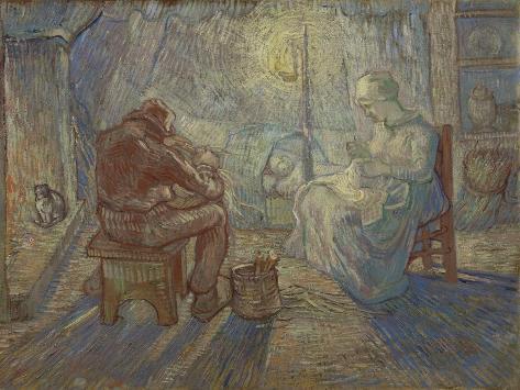 Night (After Mille), 1889 Lámina giclée