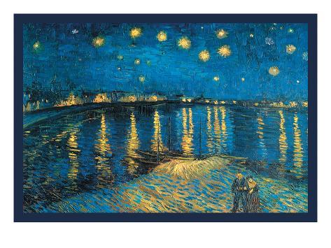 Night at the Rhone Art Print