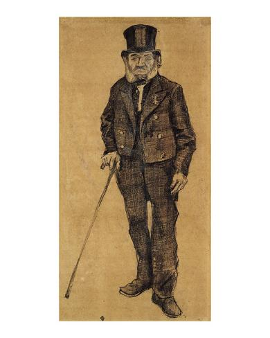 Orphan Man with Top Hat and Stick Framed Art Print