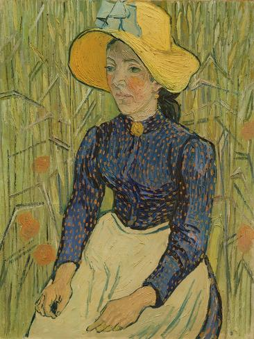 Peasant Girl in Straw Hat, 1890 Lámina giclée