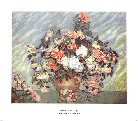 Pink and White Roses, c.1890 Art Print