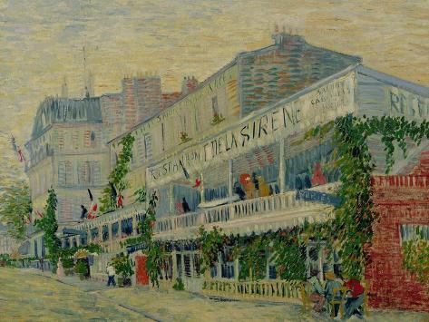 Restaurant de La Sirene at Asnieres, c.1887 Giclee Print