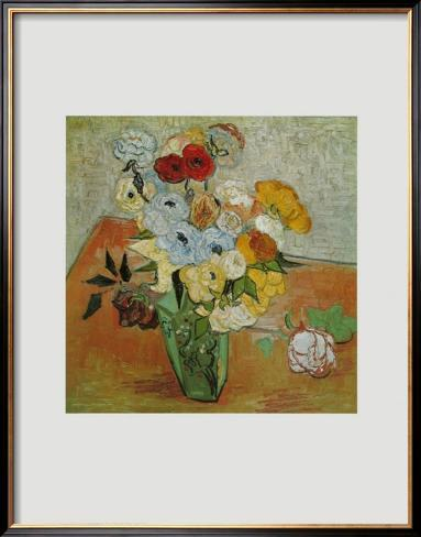 Roses and Anemones, c.1890 Framed Art Print