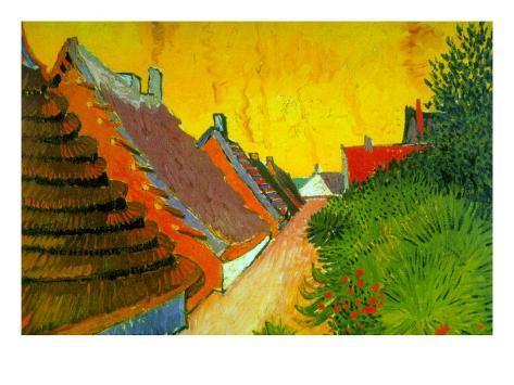 Saintes-Maries Road Through The Town Art Print