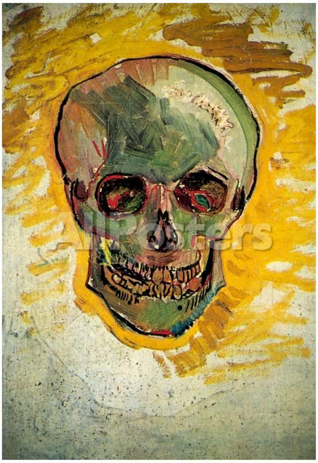 Vincent Van Gogh Skull Art Print Poster Print - AllPosters.ca