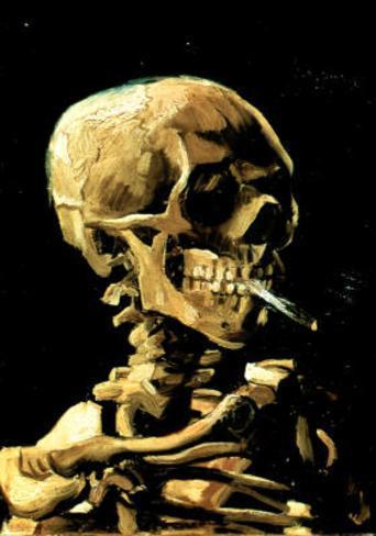 Vincent Van Gogh (Skull with Cigarette) Art Print Poster Masterprint