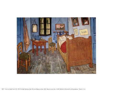 Slaapkamer in Arles, ca.1887 Kunst van Vincent van Gogh - bij ...