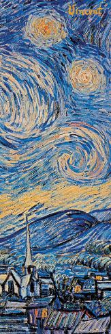Starry Night, c.1889 (detail) Reproducción de lámina sobre lienzo
