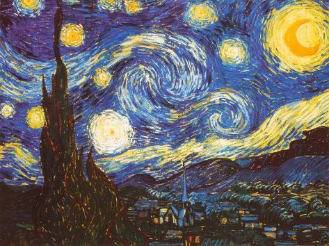Starry Night, c.1889 Art Print