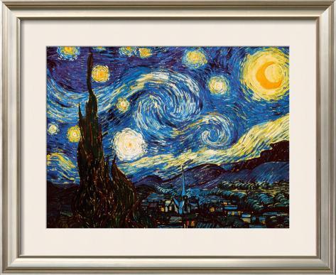 Starry Night, c.1889 Framed Art Print