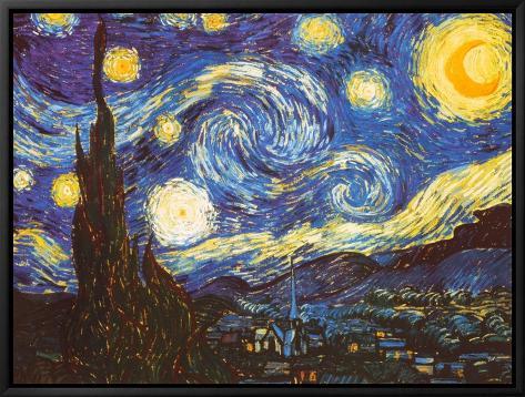 Starry Night, c.1889 Framed Canvas Print