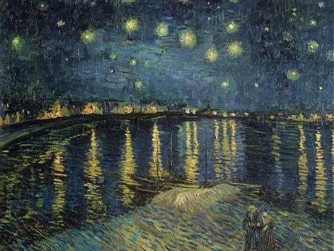 Starry Night over the Rhone, c.1888 Giclee Print