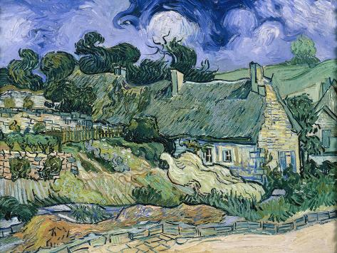 Staw-Roofed Houses Giclee Print