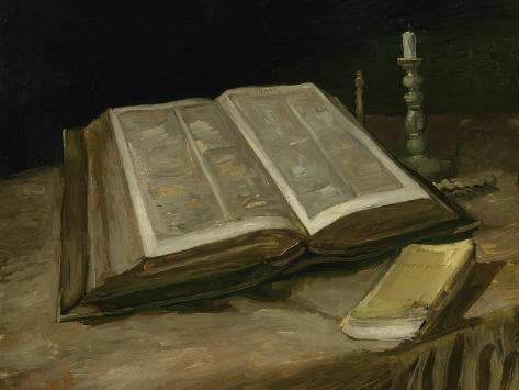 Still Life with Bible, 1885 Lámina giclée