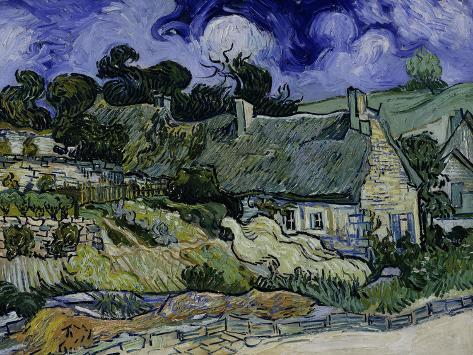 Straw-Decked Houses in Auvers-Sur-Oise, c.1890 Giclee Print
