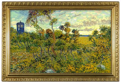 Vincent Van Gogh Tardis at Montmajour Poster Poster