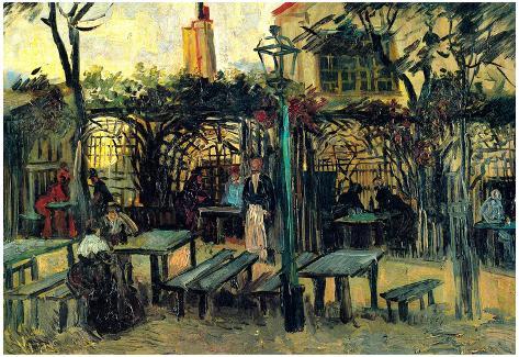 Vincent Van Gogh Terrace of a Cafe on Montmartre La Guinguette Art ...