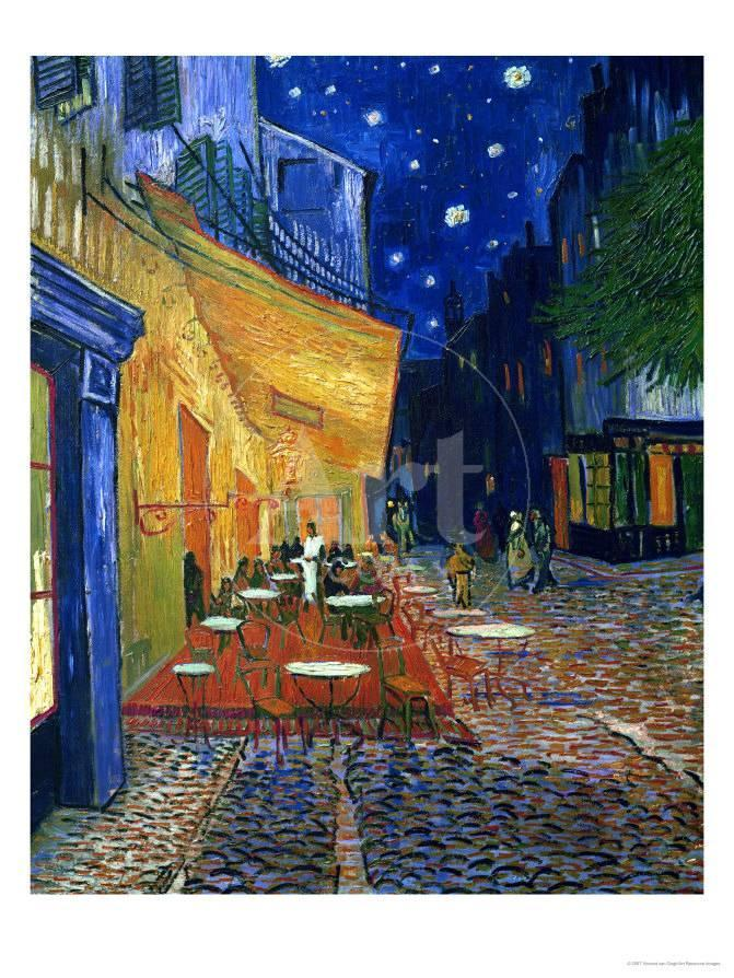 The Cafe Terrace On The Place Du Forum Arles At Night C 1888