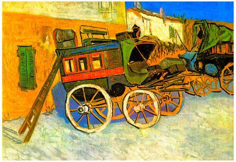 Vincent Van Gogh The Coach of Tarascon Art Print Poster Poster