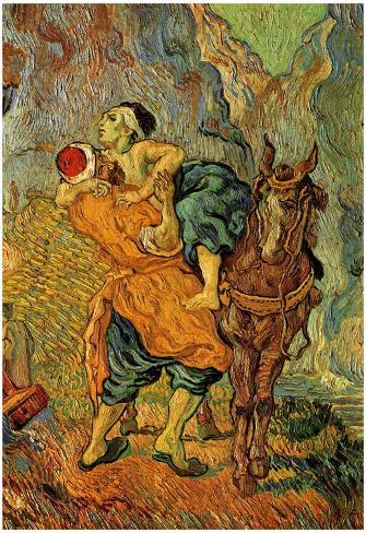 Vincent Van Gogh (The Good Samaritan (after Delacroix)) Art Poster Print Poster