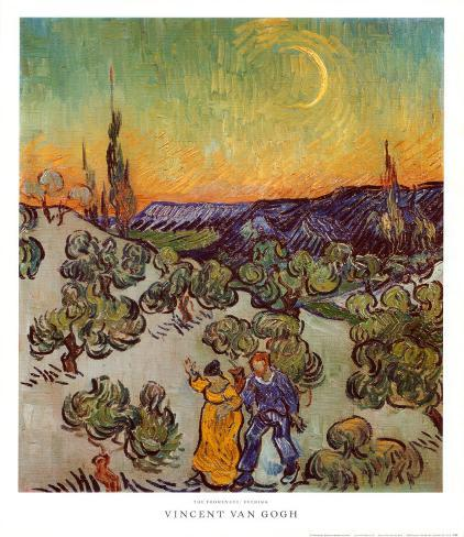 The Promenade, Evening Art Print