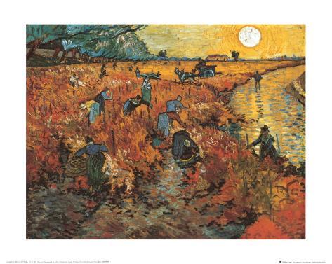 The Red Vineyard at Arles, c.1888 Art Print