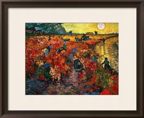 The Red Vineyard at Arles, c.1888 Framed Giclee Print