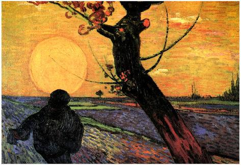 Vincent Van Gogh The Sower 2 Art Print Poster Poster