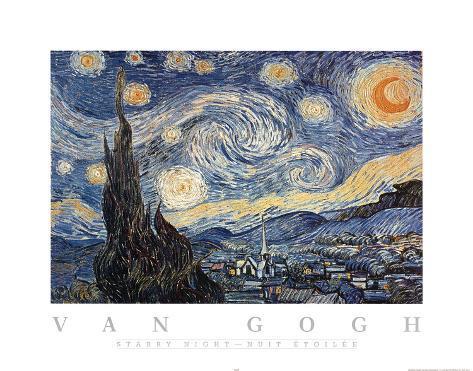 Vincent van Gogh The Starry Night Art Print Poster Poster