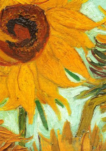 Twelve Sunflowers (detail) Art Print