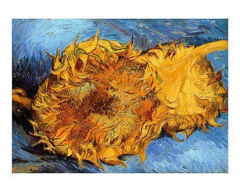 Two Cut Sunflowers, c.1887 Giclee Print