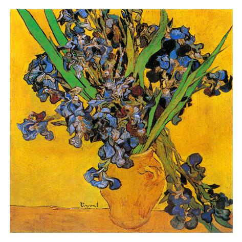 Vase Avec Iris Dtail Print By Vincent Van Gogh At Allposters