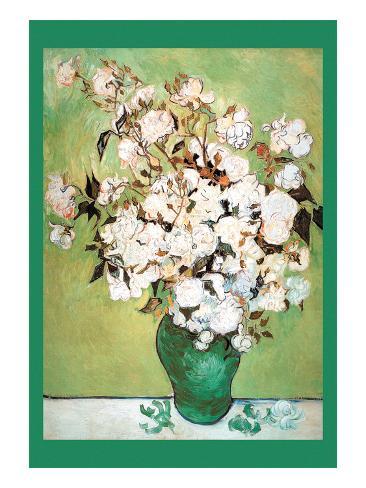 Vase Avec Roses Impressão artística