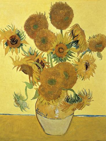 Vase of Fifteen Sunflowers, c.1888 Giclee Print