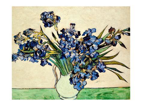 Vase of Irises, c.1890 Giclee Print