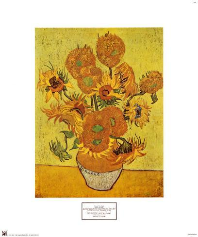 Vase with Fifteen Sunflowers, c.1888 Art Print