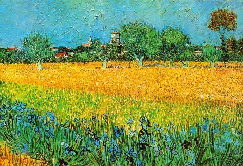 View of Arles with Irises Art Print
