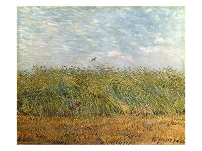 Wheat Field With A Lark Giclee Print By Vincent Van Gogh