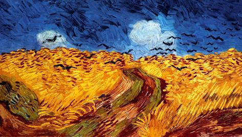 C Wheatfield With Crows Art Print Home Decor Wall Art Poster