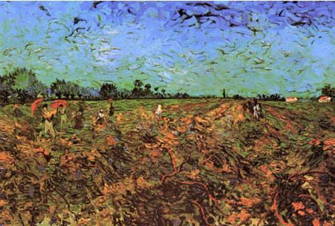 Vincent Van Gogh Workers in The Green Vineyard Art Print Poster Masterprint