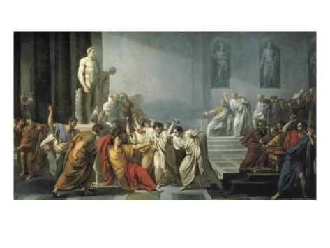 The Death of Julius Caesar Art Print