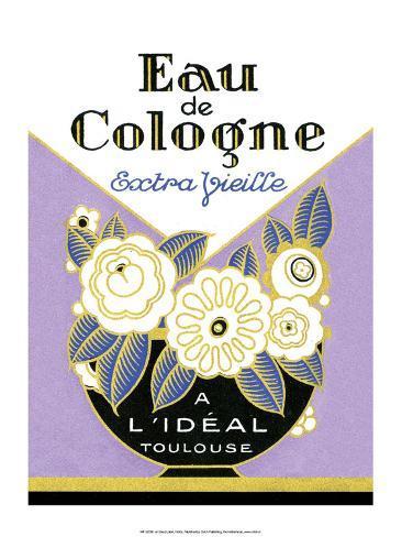 Vintage Art Deco Label, Eau de Cologne アートプリント