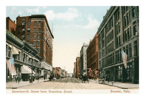Vintage Downtown Denver, Colorado Art Print