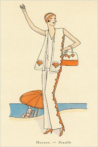 Vintage Haute Couture Beach Wear Stampa artistica